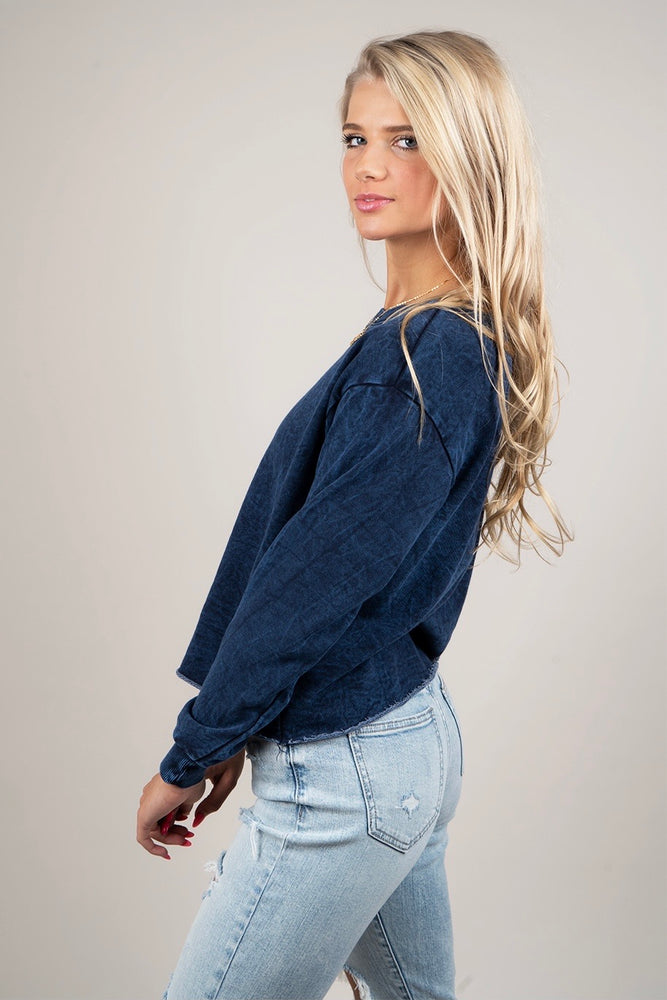 Lizzy Crop (Navy)