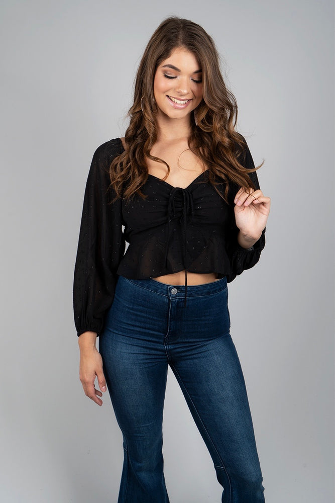Take Me Away Top (Black)