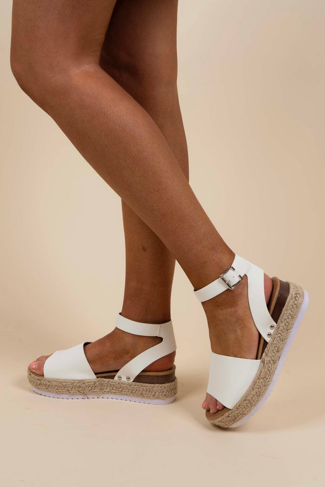 Know Your Path Espadrilles (White)