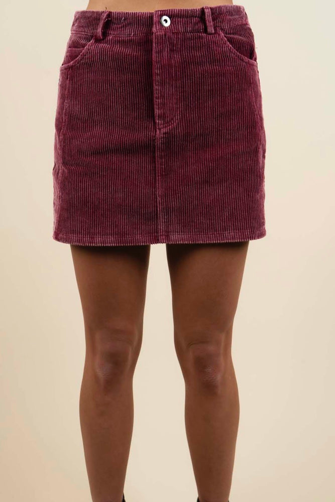 Find You Again Skirt (Berry)