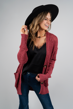 Captivating Love Cardigan (Rose)