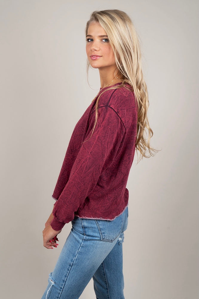 Lizzy Crop (Burgundy)