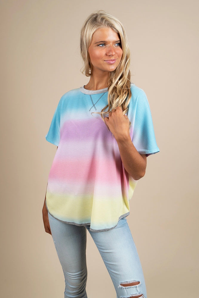 Feel The Vibration Tie Dye Top