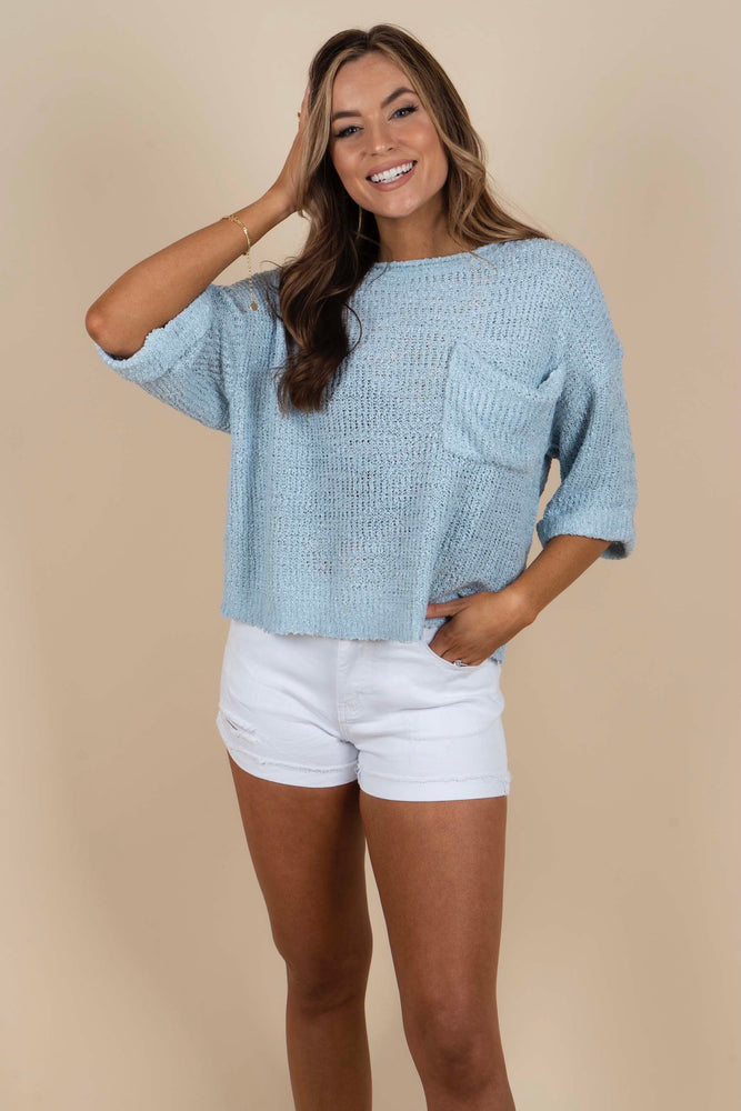 For Your Heart Top (Light Blue)