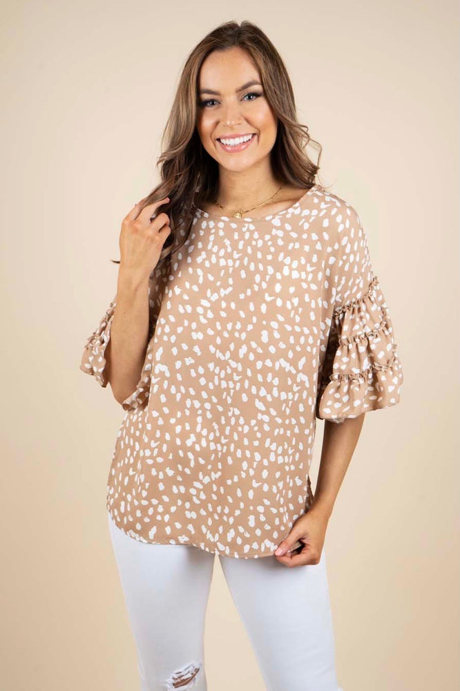 I Know You Blouse (Taupe)