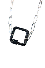 Kristalize Jewelry Danica (Black Lock Silver Chain)
