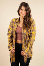 All About You Flannel (Mustard)