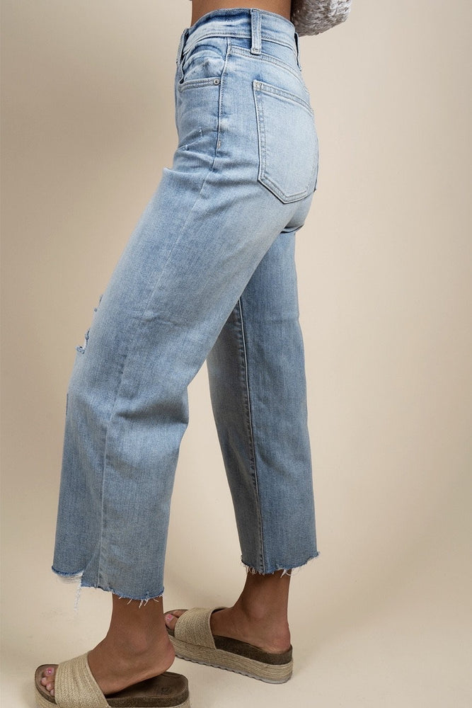 Dawn High Rise Wide Leg Crop Jeans
