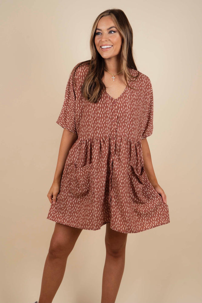 Best Of Me Dress (Brick)