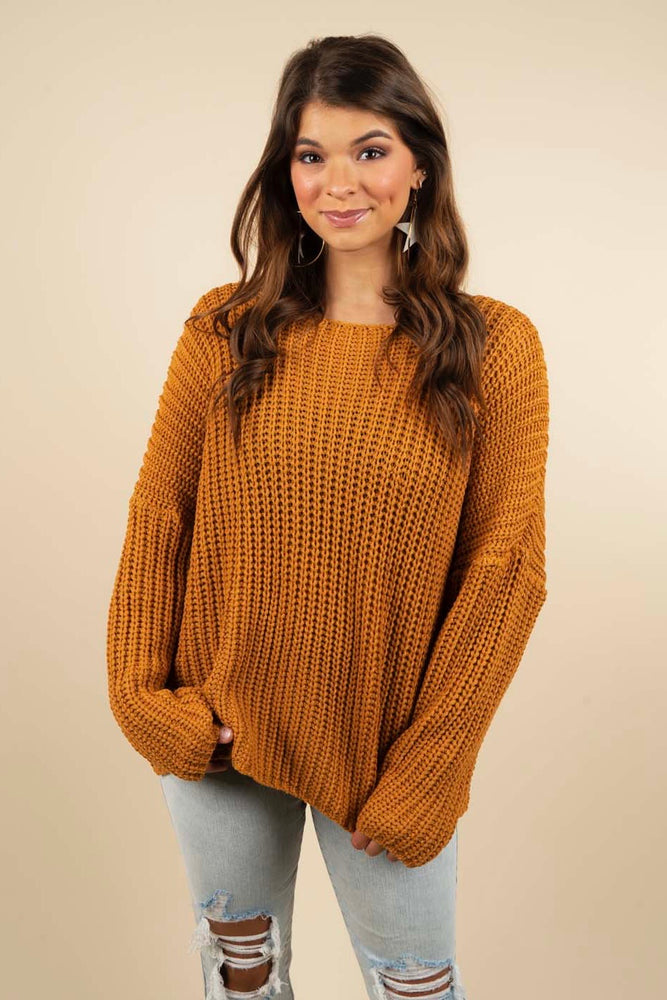 New Love Sweater (Butterscotch)
