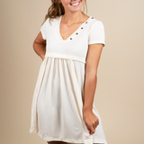 Baby Just Say Yes Dress (Cream)