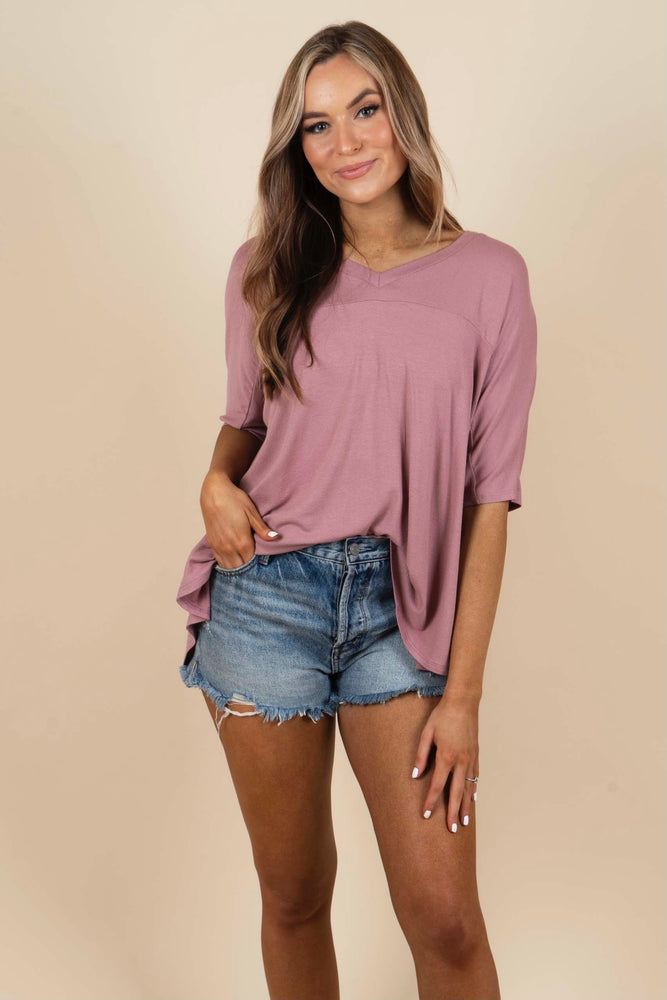 Dare To Dream Top (Dusty Mauve)