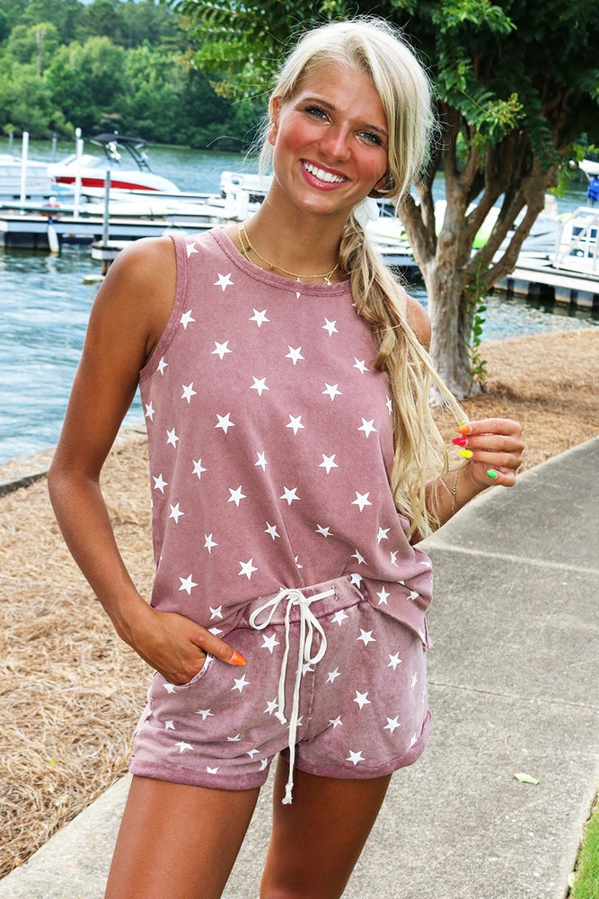 Star Gazing Two Piece Set (Dried Rose)