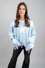 Written In The Stars Sweater (Blue/White)