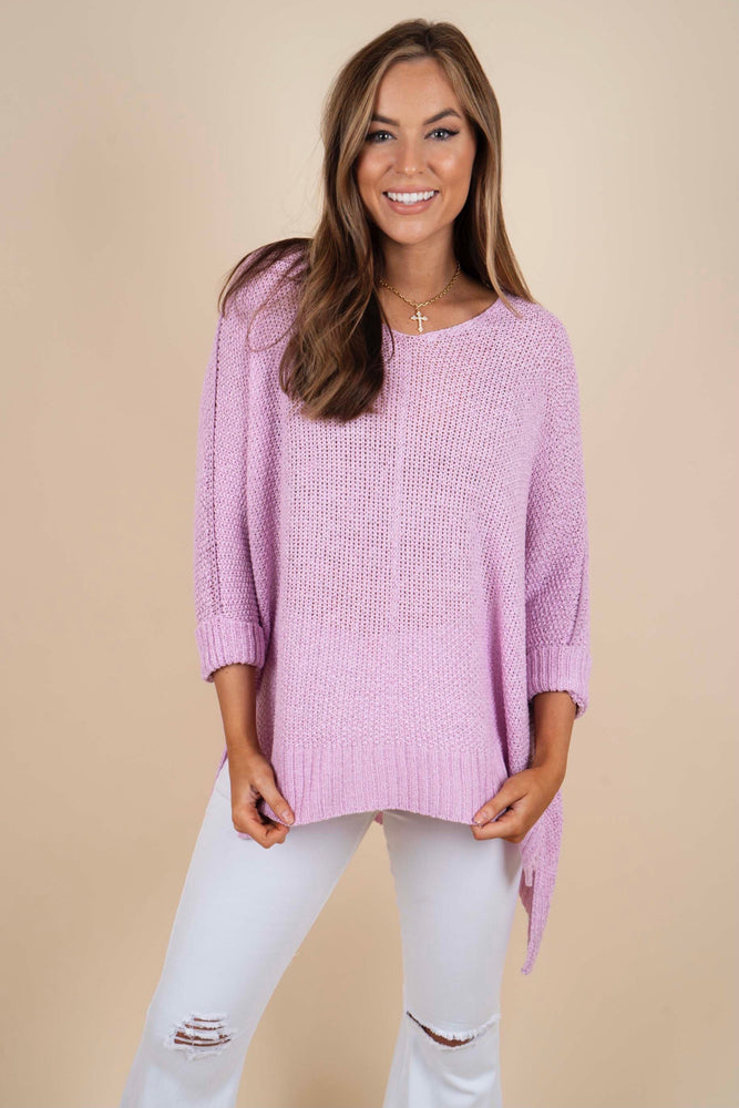 Sweet Secrets Sweater (Lilac Pink)