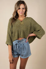 For All The Right Reasons Sweater (Olive)