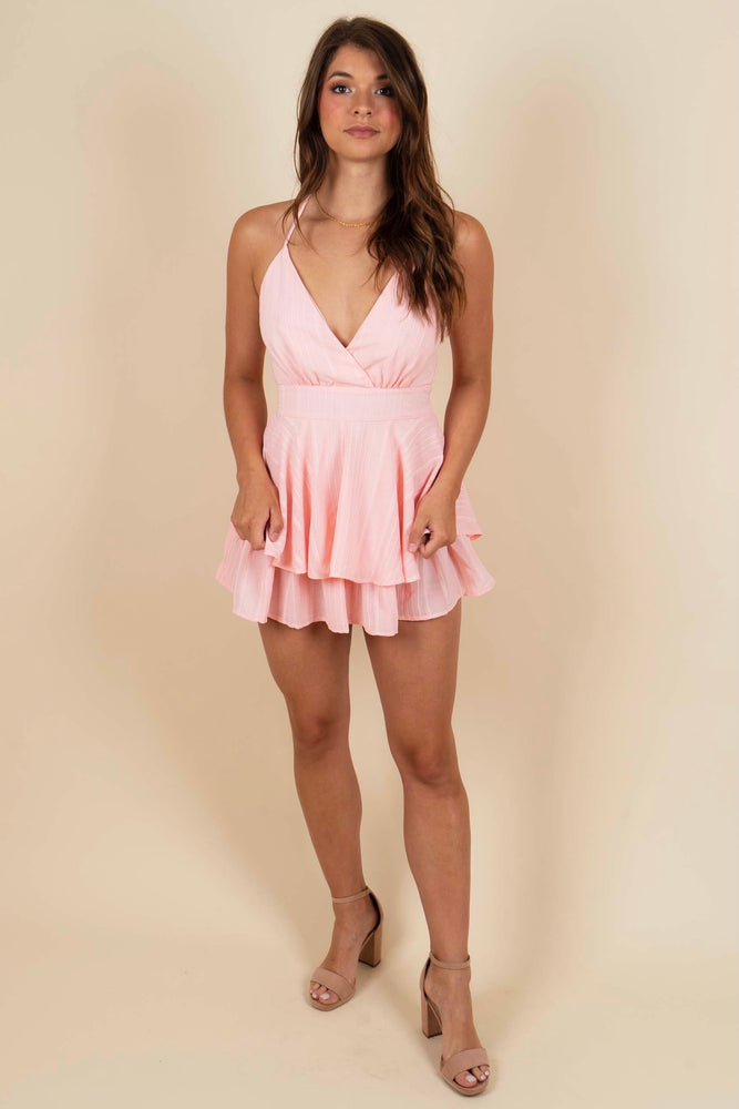 Imagine This Love Romper (Light Peach)