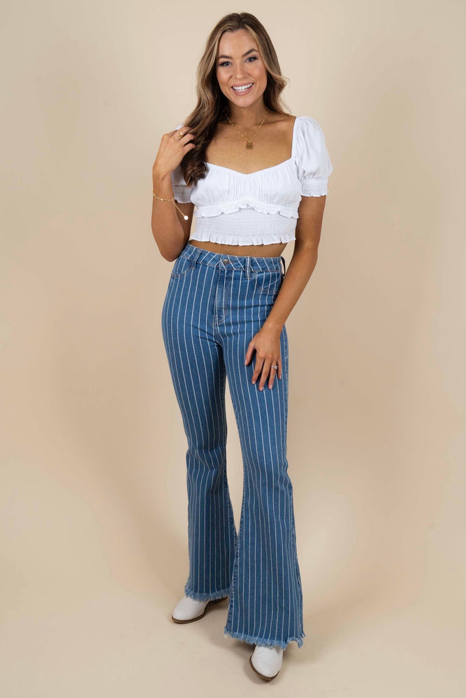 Addison Striped Flares