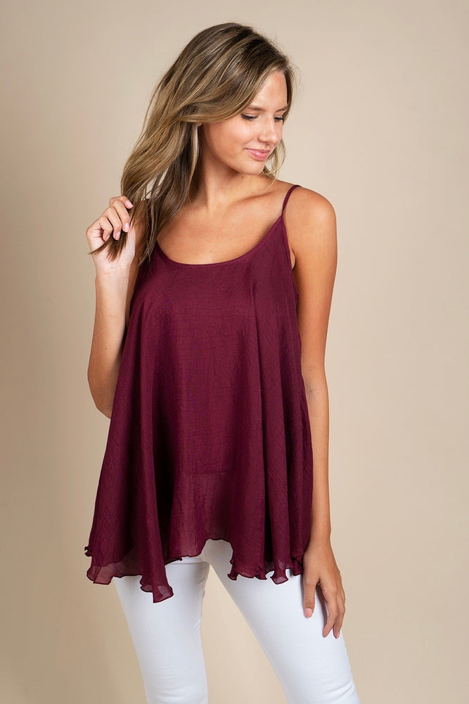 Can't Buy Me Love Tank (Maroon)