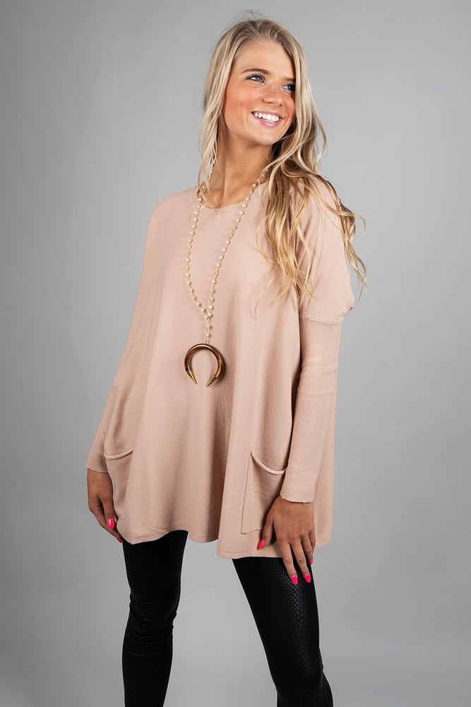 Totally Smitten Sweater (Taupe)