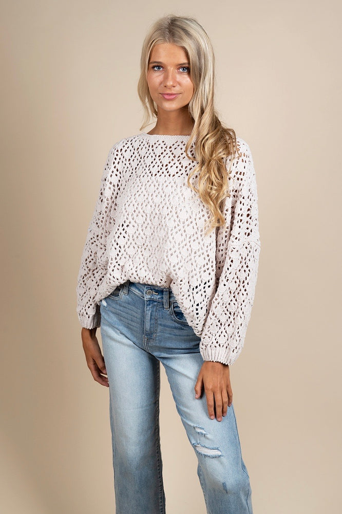 Dreamin' For You Sweater (Ivory)