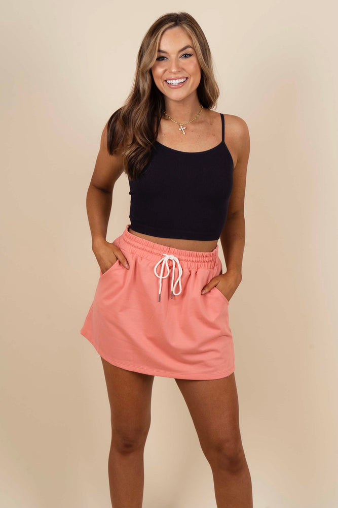 Going Anywhere Skirt (Peach Pink)