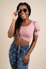 Edgy Crop Top (Dusty Rose)