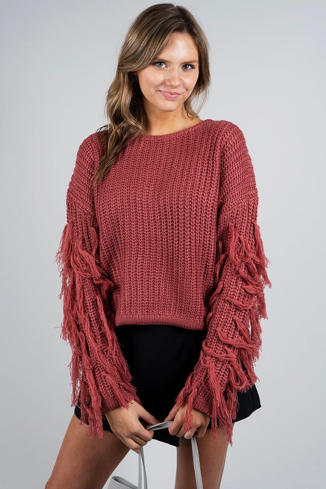 All Eyes On You Sweater (Raspberry)
