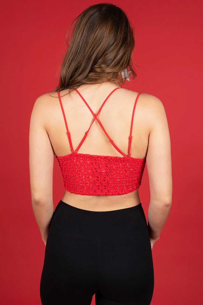 This Is Love Bralette (Ruby)