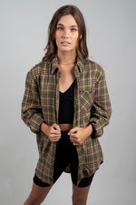 All About You Flannel (Olive)