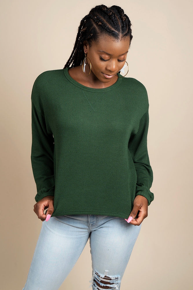 Make It Easy Top (Dark Green)
