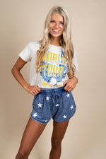 Stars In Your Eyes Shorts (Blue)