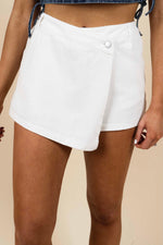 Denim Dreams Skort (White)
