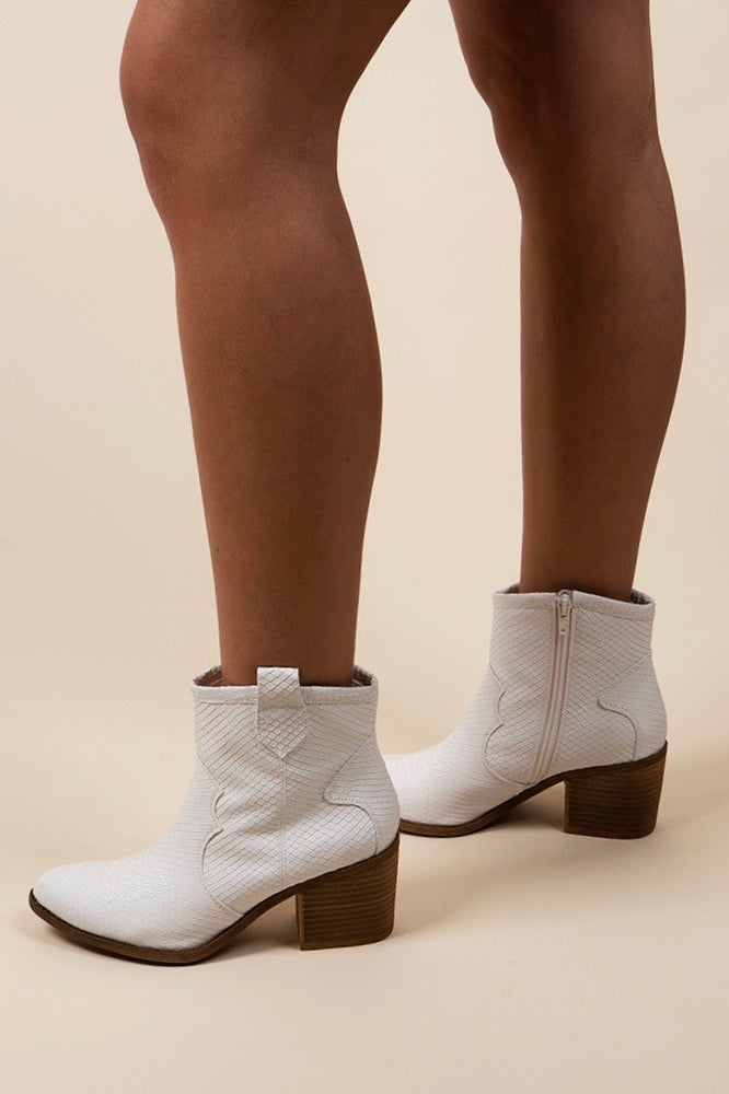 Dirty Laundry Unite Booties (White Snake)