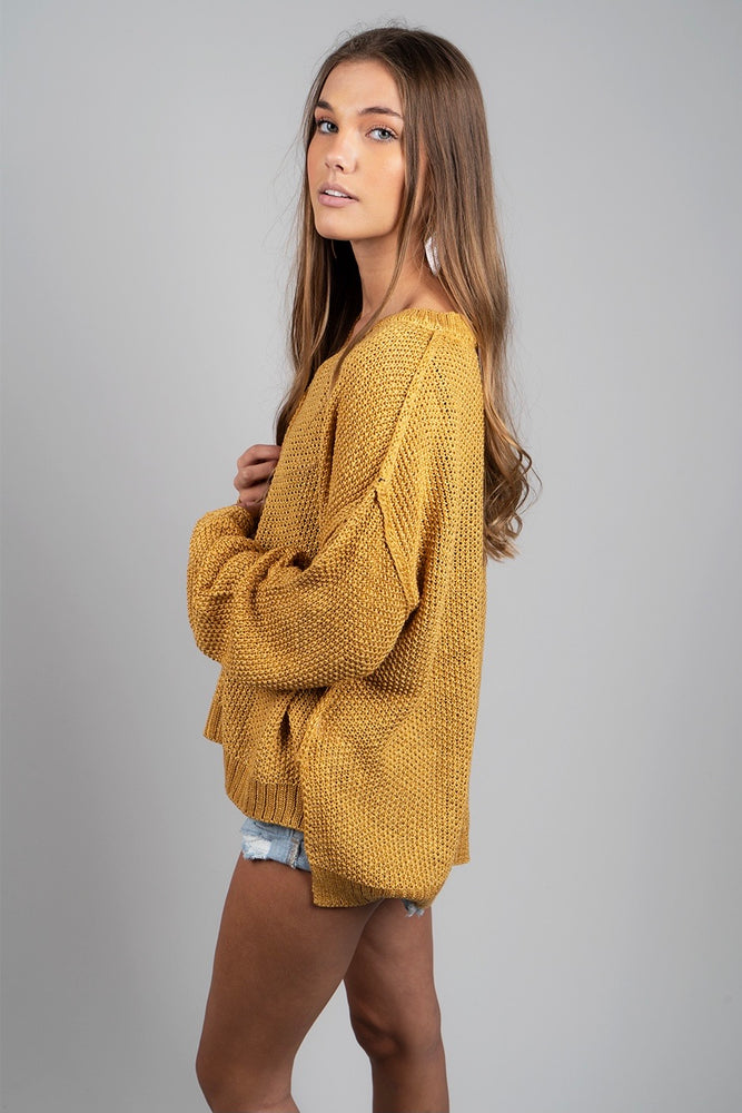 Such A Delight Sweater (Mustard)