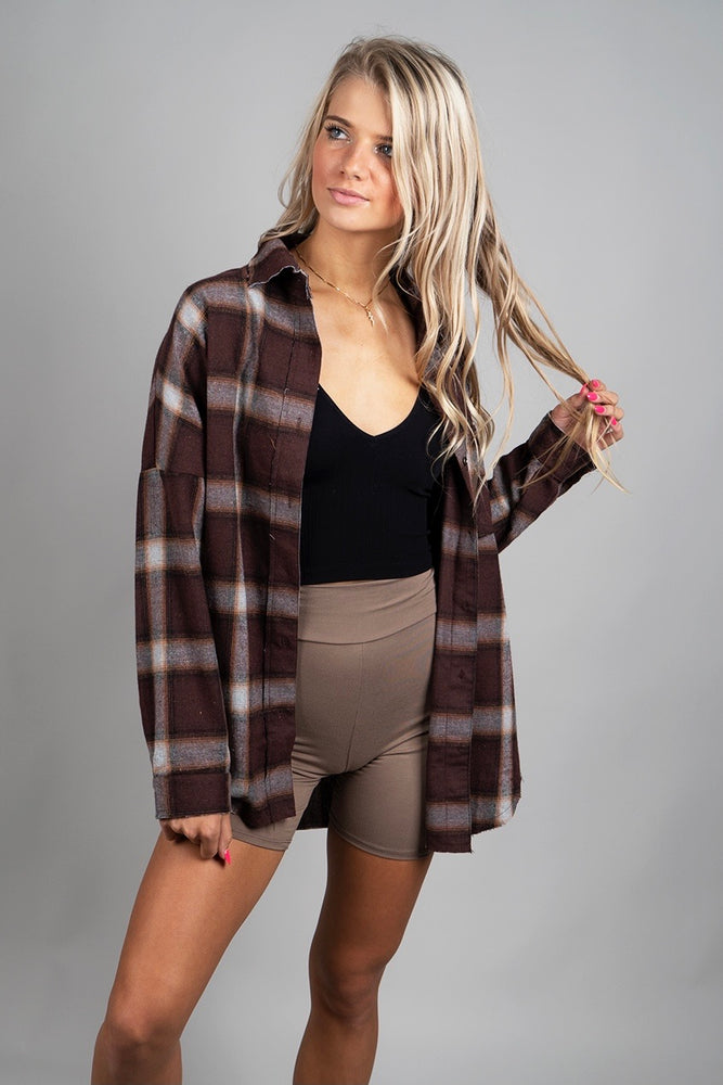Breezy Days Flannel (Brown)
