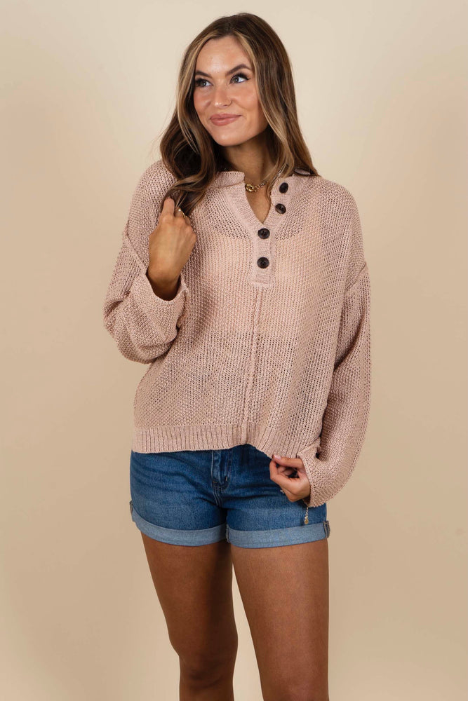 Such A Delight Sweater (Blush)