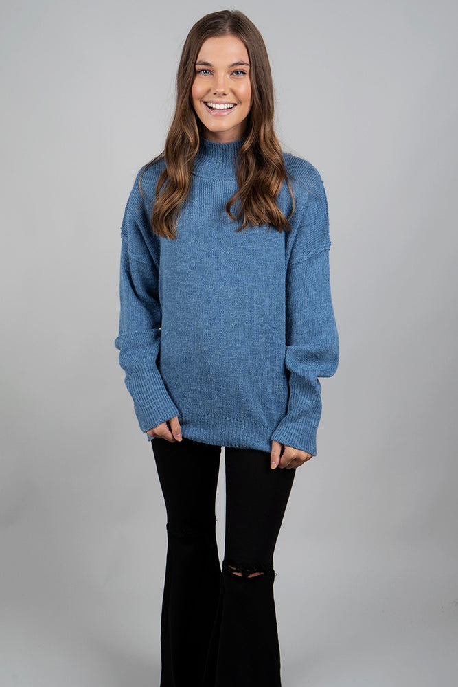 Tell Me What It's Like Sweater (Teal)