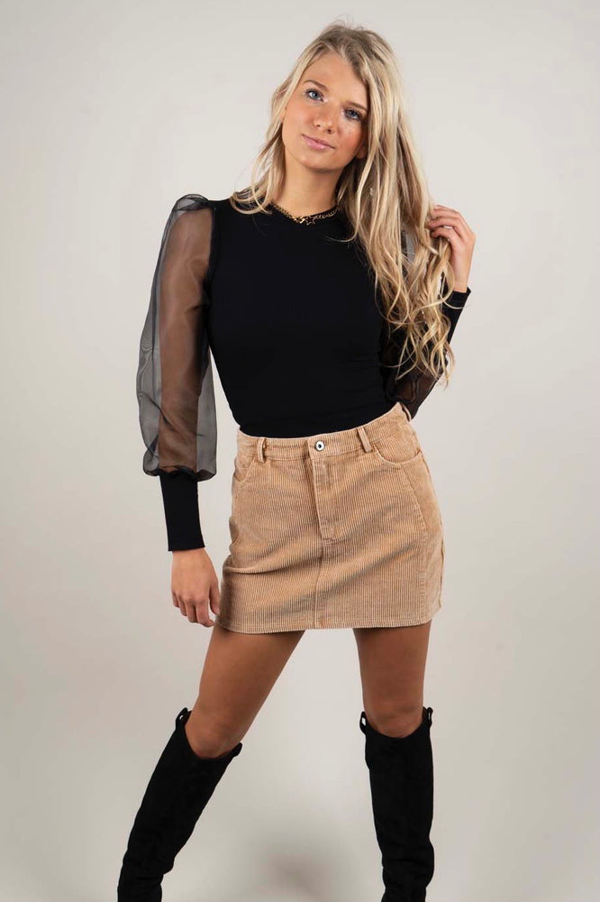Find You Again Skirt (Camel)
