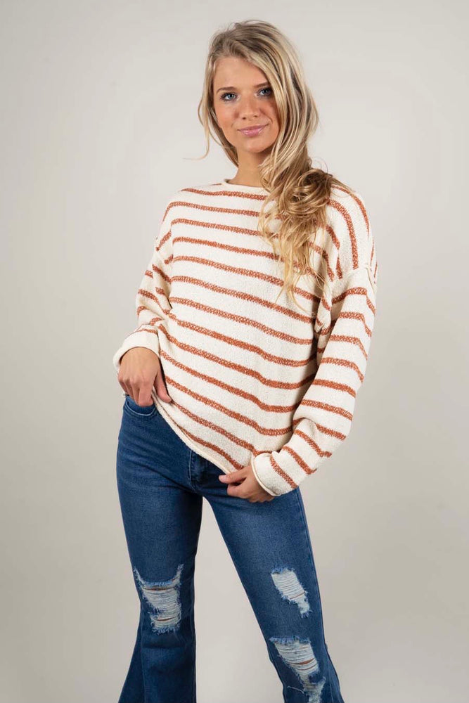 Cozy Classics Sweater (Rust/Cream)
