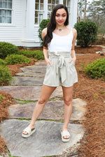 Good Girl Romper (Taupe)