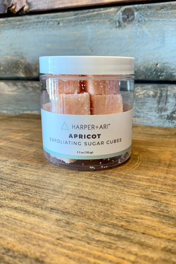 Harper and Ari Exfoliating Sugar Cube Jars (Apricot)