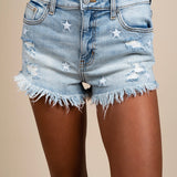 Lulu High Rise Cut Off Shorts (Solar Wind Lt)