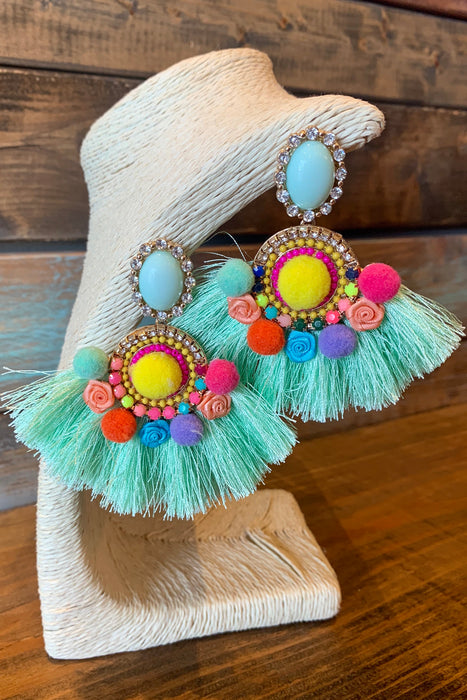 Tropical Paradise Tassel Earrings