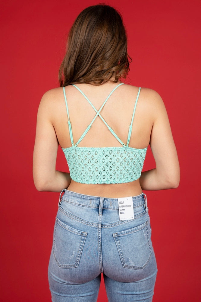This Is Love Bralette (Mint)