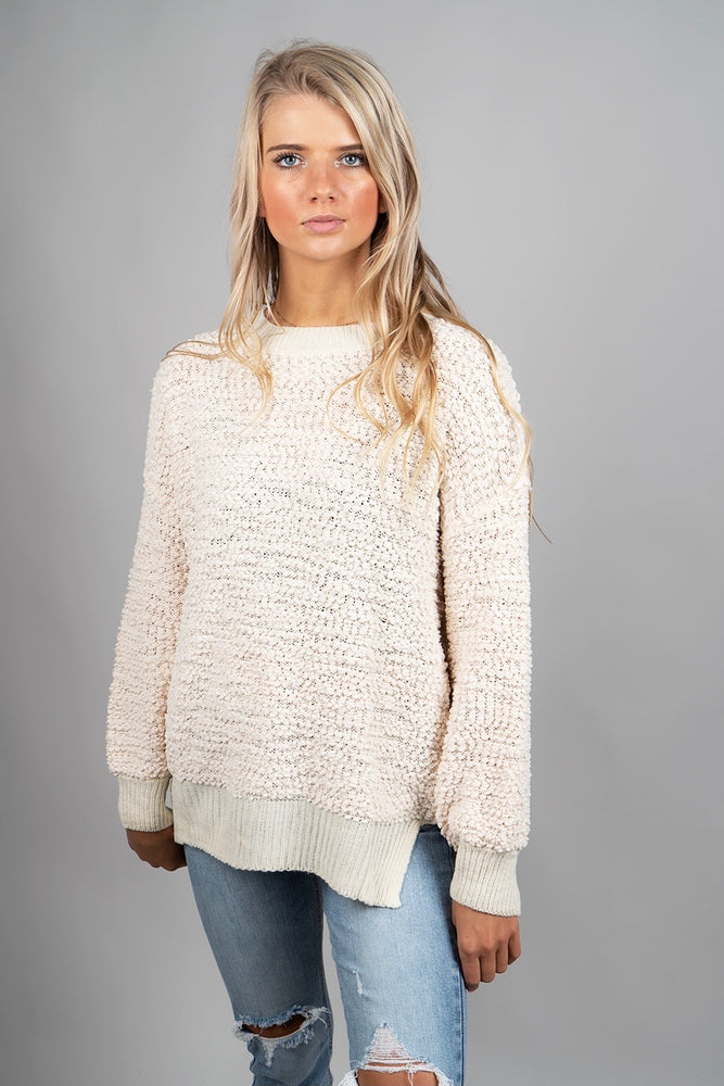 Sweet Love Popcorn Pullover (Natural)