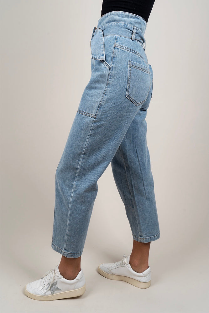 Lila Paperbag Denim Jeans