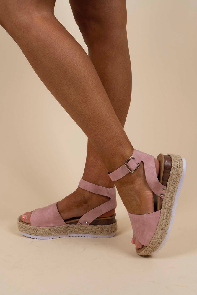 Know Your Path Espadrilles (Dusty Pink)
