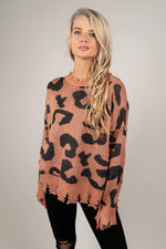 On The Wild Side Sweater (Faded Coral)