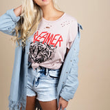 Dreamer Tiger Distressed Graphic Tee